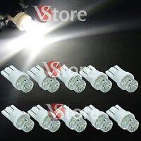 10 Lampade LED T10 BIANCO CONCAVE Luci Lampadine Per Targa e Fari Posizione W5