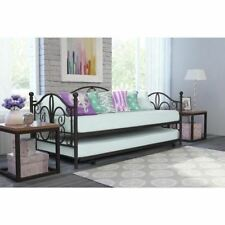 Bronze Metal Daybed Frame Twin Bed WITH TRUNDLE Kids Bedroom Furniture Guest
