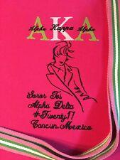 Free personalizing! NEW custom embroidered bag-AKA sorority bag