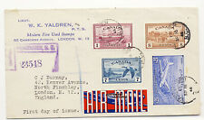 Canada 1946 Registered First Day Cover Peace Stamp #269 273 C9 Ce3 Vancouver X
