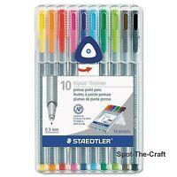 Staedtler Triplus Fineliner Pens 10 Brilliant Colors 0.3mm 334 SB10A6
