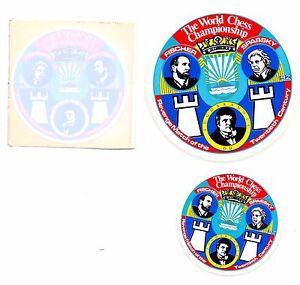 THREE LABELS SOUVENIRE BOBBY FISCHER vs SPASSKY 1992 REMATCH OF THE CENTURY RARE