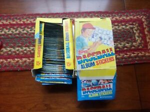 1981 TOPPS BASEBALL ALBUM STICKERS 2 BOXES OPENED 196 PACKETS