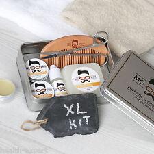 Mo Bro's XL 8 Piece Grooming Kit Inc Beard Oil, Balm, Wax, Soap, Scissors, Comb