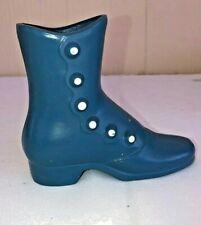 Metal Dark Blue Dress Shoe Boot Vase Planter Emig P1 Vintage