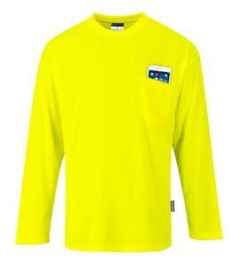 Portwest Non ANSI Pocket Long Sleeve T-Shirt Yellow S579
