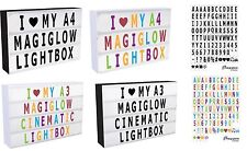 100letters Numbers Symbols for Use With Cinematic Light Boxes Plastic by MA