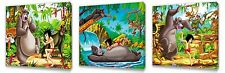 Jungle book Kids canvas wall art plaque pictures set of three pack