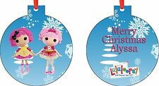 Personalized Lalaloopsy Christmas Ornament ( Add Any Message You Want)
