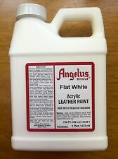 Angelus Flat White acrylic leather paint in 16oz bottle