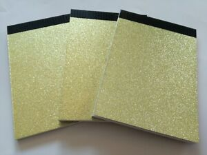 6 PADS GLITTER COVER A6 SIZE PLAIN WHITE PAPER JOTTER NOTEPAD MEMO NOTEBOOK