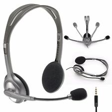9353e2a06e3 Logitech Stereo Headset H111 Headphones w/ Boom Microphone & Noise  Cancellation