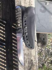 ~CUSTOM UNUSED Tactical Tanto  FIGHTER KNIFE w/ORIG. SHEATH