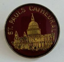 Vintage St Paul's Cathedral Lapel Pin Souvenir Pauls London Anglican England UK