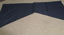 "Dark Blue Curtain Valance and Swags Curtains 44"" Swag 42"" Valance By Woodland"