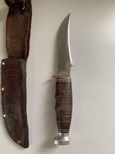 KA-BAR 1233 Hunting Knife w/ Leather Sheath