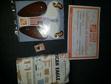 NEW Home Depot American Eagle Kids Workshop Wooden Kit with pin And Certificate
