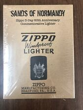 Zippo Sands Of Normandy D-Day 60th Anniversary Commemorative Lighter Sand SEALED