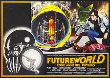 CINEMA-fotobusta FUTUREWORLD p.fonda,y.brynner, HEFFRON