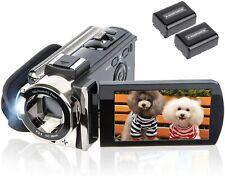 Video Camera Camcorder Digital Camera Recorder kicteck Full HD 1080P 15FPS 24MP