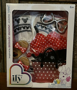 """Ily Disney 4 Ever 18"""" Girl Doll Minnie Mouse Outfit Clothes Swimsuit Set NEW"""