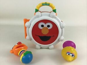 Sesame Street Take Along Band Set Musical Drum Maraca Horn Set Lot Hasbro