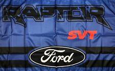 New listing Ford Raptor Svt Flag 3x5 ft Blue Banner F-150 Man-Cave Garage 4x4 Truck New