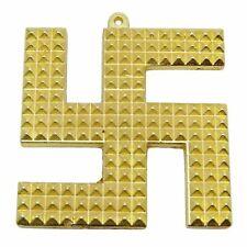 "2"" Religious Brass Feng Shui Pyramid Swastik Door Car Hanging Decorative Deity"
