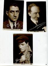 Lot 3 cartes postales anciennes NOS ARTISTES DANS LEURs EXPRESSIONS