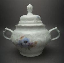 Classic Rose Sanssouci Belvedere Platinrand Blaue Blume Zuckerdose mit Deckel