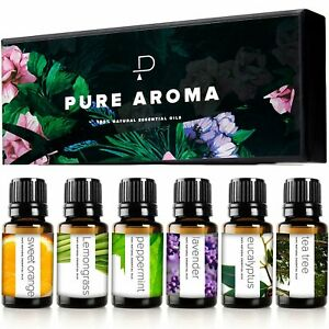 Essential Oils by PURE AROMA 100% Pure Therapeutic Grade kit- Top 6...