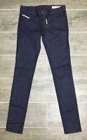 Diesel Women's Jeans Livier-Sp 0RZ74 Super Slim Jegging Low Waist Dark Blue $158
