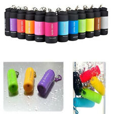 Mini Waterproof Rechargeable USB Flashlight LED Light Lamp Pocket Keychain Torch