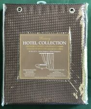 Luxury Hotel Collection Shower Curtain Brown Waffle Pattern ~ New ~ w/Grommets