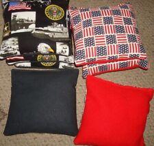 Set Of 8 Us Army & Flag Cornhole Bags - Quality