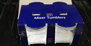 Set Of 4 Woolworths Mixer Tumblers Drinks Party BBQ