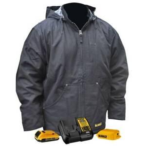 DeWALT DCHJ076ABD1-XL 20V Heated Heavy Duty Work Coat Kit Black XL