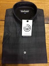 Duck & Cover Nero Check Short Sleeve Shirt/Black - Medium