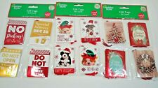 Folded Gift Tags Christmas 16 count Choice Pattern