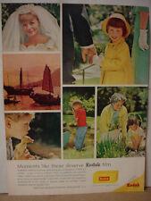 1964 Kodak Camera Film Wedding Bride Kids Duck Grandma Vintage Print Ad 10377