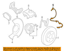 GM OEM ABS Anti-lock Brakes-Front Speed Sensor 22831244
