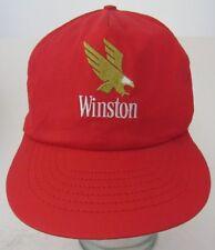 VTG Winston Red Trucker Advertising Snapback Hat Cap A13