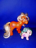 Vintage My Little Pony SUNSPOT Sparkle ponies 1984 Orange YELLOW HAIR ++ 1 ❤️m17