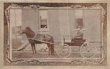 RPPC HORSE WAGON CARRIAGE REAL PHOTO POSTCARD (c. 1910)