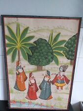Vintage Indian Painting On Silk