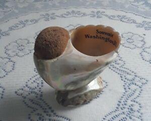 Antique Maritime Pin Cushion w/ Seashell Souvenir of Washington D.C.
