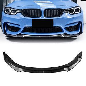 For 2015-2020 BMW F80 M3 F82 F83 M4 Front Bumper Lip Body Kit Carbon Fiber Look