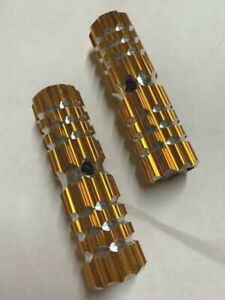 """GOLD Bicycle PEGS Alloy 24/26T 4-1/2"""" x 1.10W Bikes"""