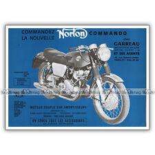 PUB NORTON 750 COMMANDO - Original Advert / Publicité Moto de 1968