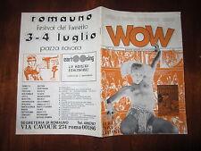 WOW FANZINE DI FUMETTI FANTASCIENZA CINEMA ANNO 1° N°1 ANNO 1976